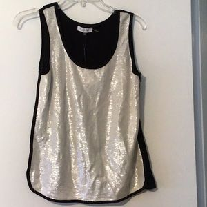 CALVIN KLEIN sequined front tank